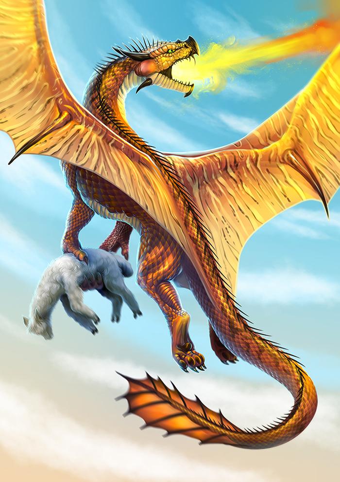 Драконы волшебного мира. Часть 2. Mary beasts, Гарри Поттер, Фан-Арт, Длиннопост, Дракон, Цифровой рисунок, Иллюстрации, Фантастические твари