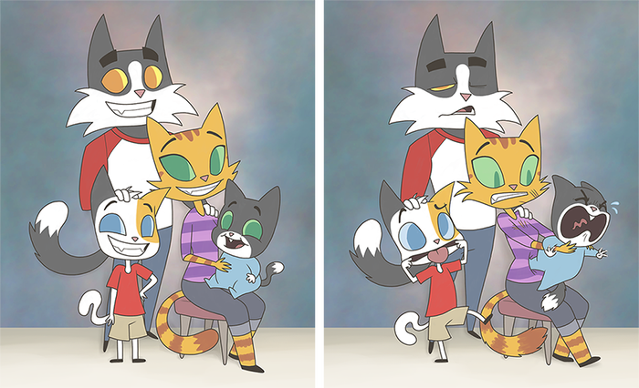 Сложности семейного фото...