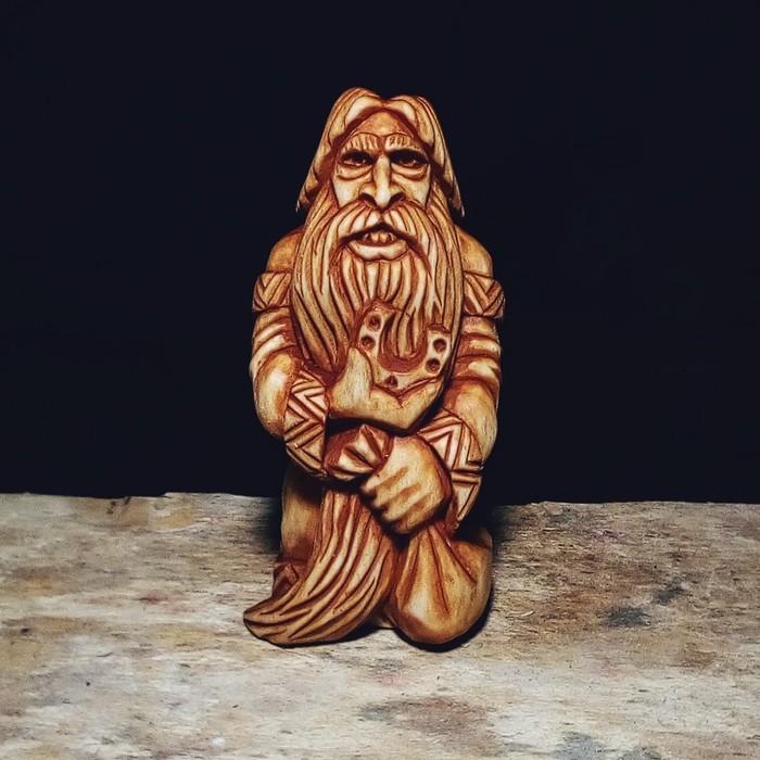 ДОМОВОЙ, материал липа, высота 12см. Резьба по дереву, Славянская мифология, Домовой, Рукоделие без процесса, Своими руками, Рукоделие