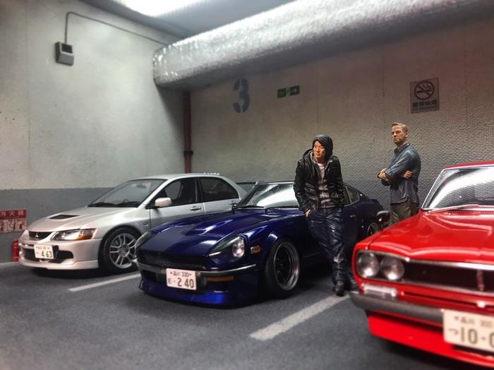 Полка для моделей 1/18 (Диорама подземного паркинга) Диорама, Модели авто, Моделизм, Автомоделизм, Коллекция, Длиннопост