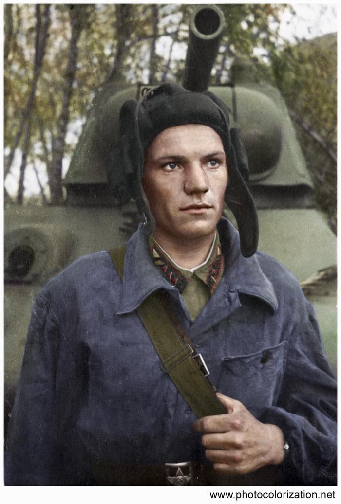 Моя колоризация Колоризация, Вторая мировая война, Герой Советского Союза, Великая Отечественная война, Танки, Чтобы помнили, Длиннопост