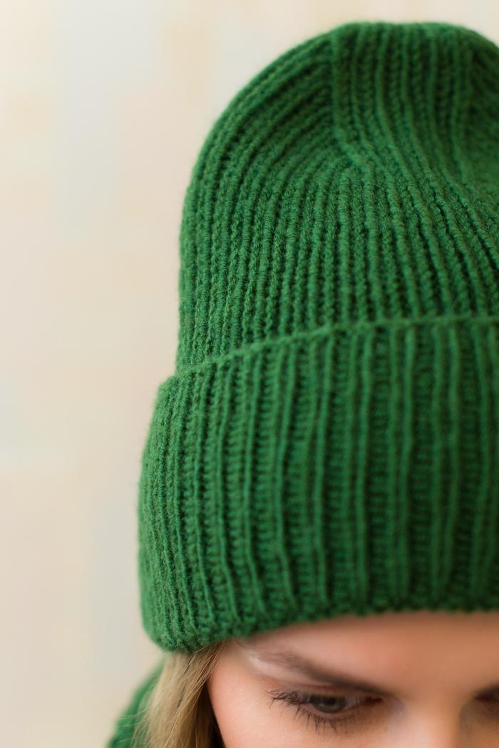 Зеленый зимний комплект. Вязание, Рукоделие с процессом, Своими руками, Вязаный шарф, Шапка, Хобби, Длиннопост