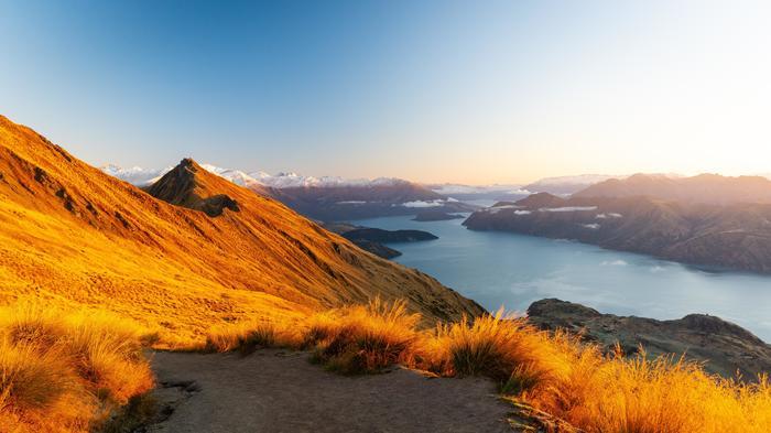 Ванака Фотография, Новая Зеландия, Горы, Природа, Пейзаж
