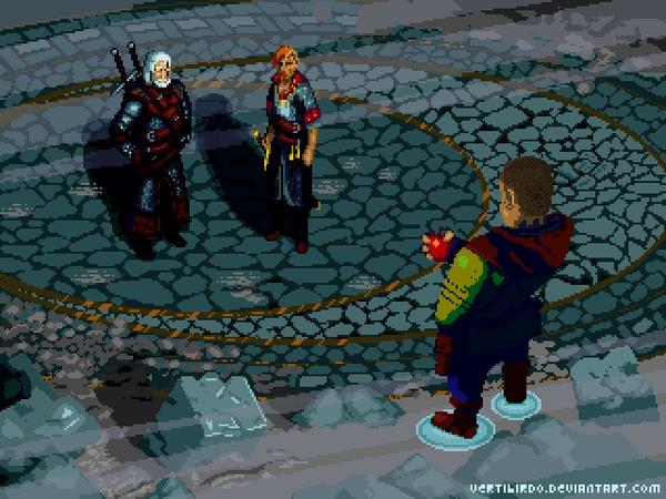 Гюнтер О'Дим Pixel Art, Ведьмак, Гифка, Coub, Ведьмак 3: Дикая охота, Гюнтер оДим, Ольгерд фон Эверек