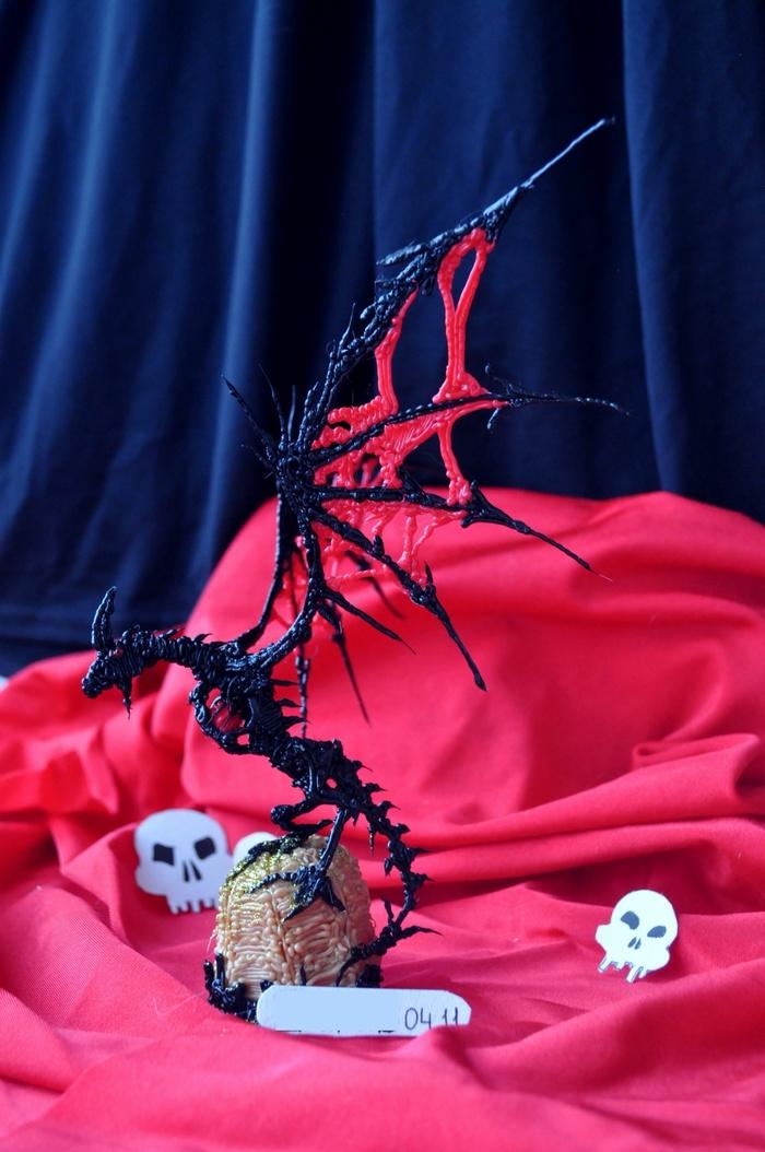 Дракон 3D ручкой Рукоделие с процессом, 3D ручка, Работа 3D ручкой, Творчество, Дракон, Длиннопост, Поделки