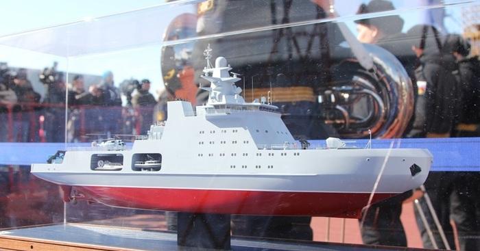 Головной патрульный корабль проекта 23550 спустят на воду в конце года Проект 23550, Флот, Арктика, Судостроение, ВМФ РФ, Иван Папанин, Новости, Длиннопост