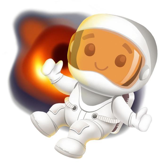 Печенавт Печенька, Космос, Черная дыра, Рисунок, Маскот, Пикабу