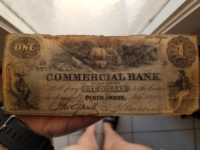 Долларовая купюра образца 1865 года