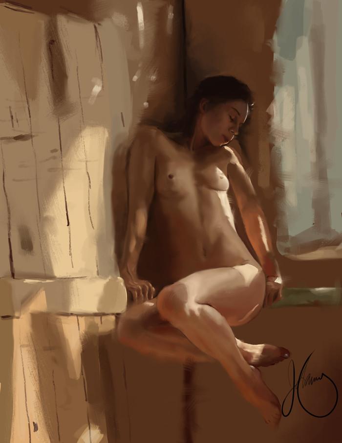 """""""Свет и анатомия"""" Арт, Красивая девушка, Грудь, Рисунок"""