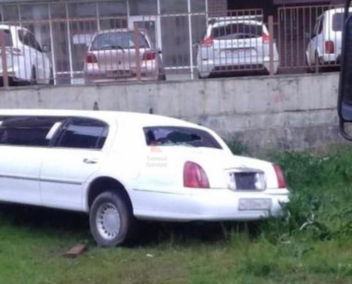 В Краснодаре бездомные живут в брошенном лимузине. Лимузин, Авто, Брошенные автомобили, Длиннопост, Краснодар, Бездомные