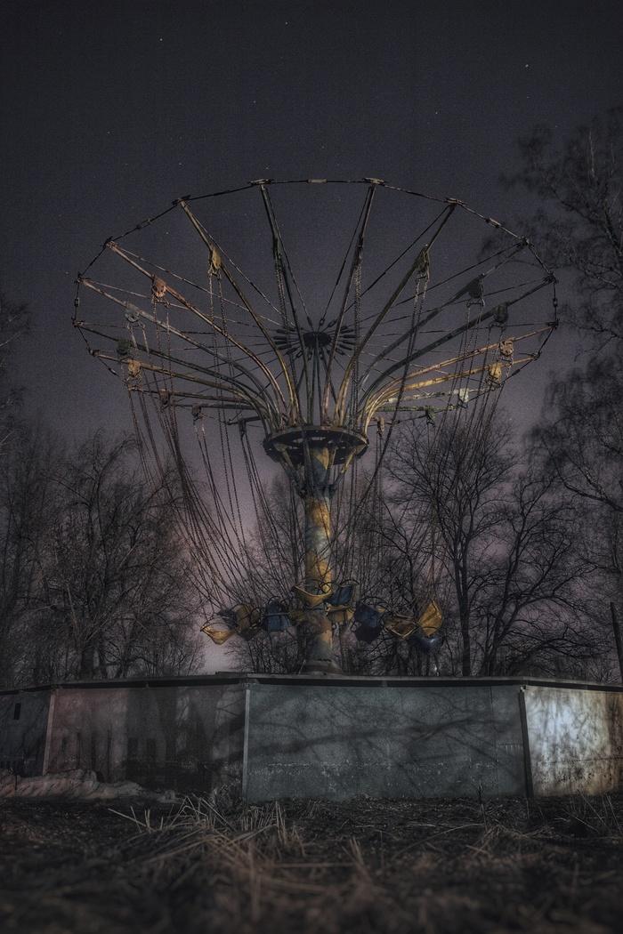 """""""Изумрудный"""" Фотография, Ночь, Парк, Заброшенное, Крипота, Барнаул, Длиннопост"""