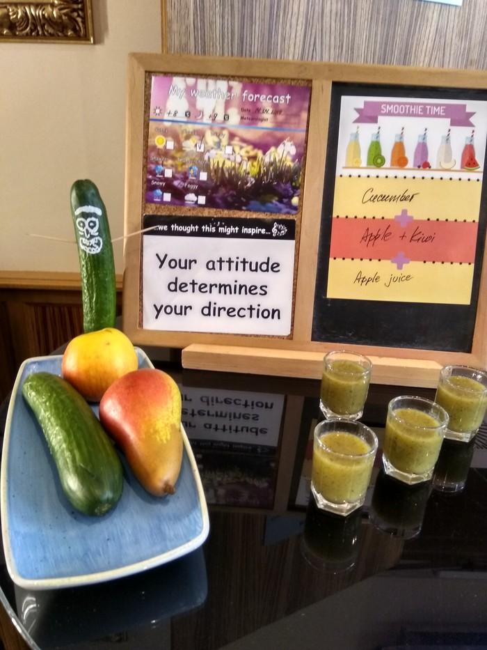 Смузи на завтраке в отеле