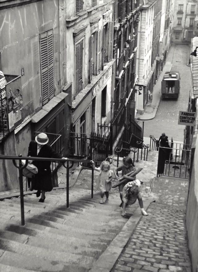 ФотографииПарижа 50-х годов Фотография, Старое фото, Париж, Франция, История, Длиннопост