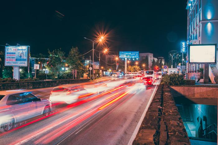 Вечерний Сочи Nikon d600, Сочи, Выдержка, Длинная выдержка, Длиннопост