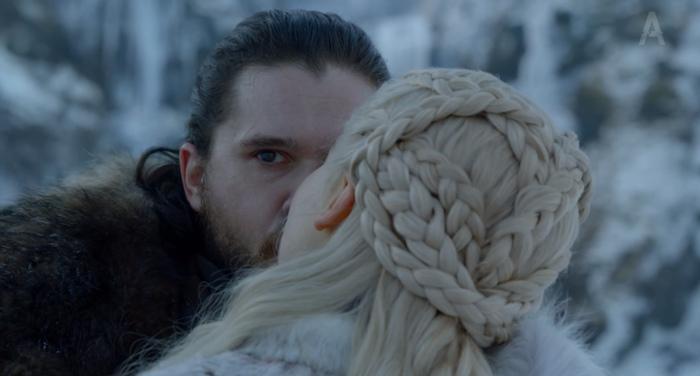 Когда целуешься с девушкой в её комнате и внезапно замечаешь кота. Игра престолов, Джон Сноу, Дракон, Кот, Дейенерис Таргариен, Спойлер, Игра престолов 8 сезон