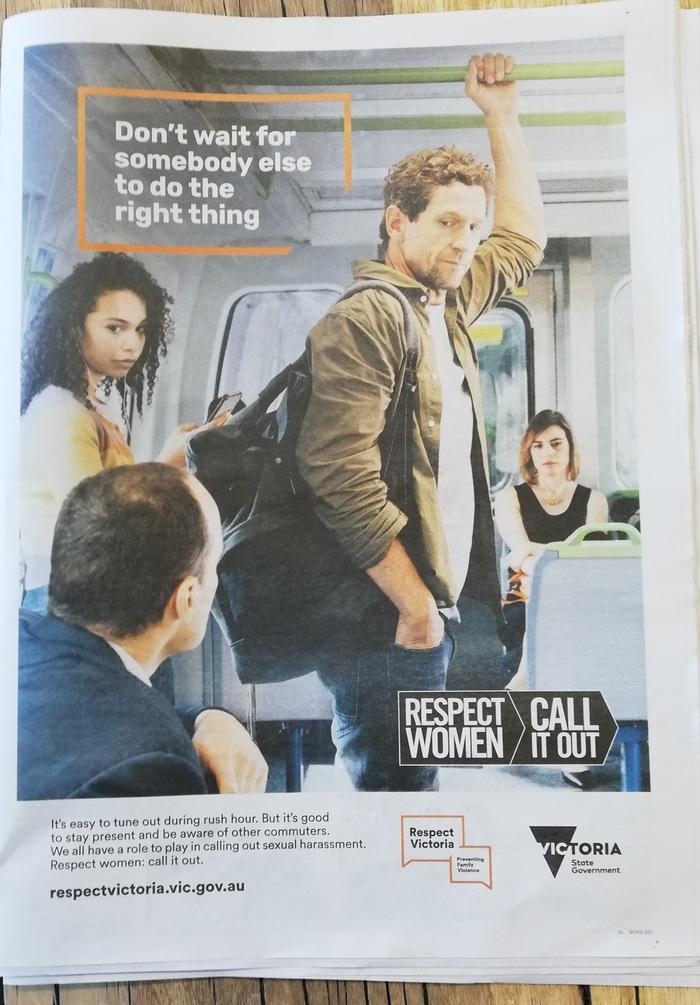 Тест на либеральные ценности Социальная реклама, Австралия, Харрассмент
