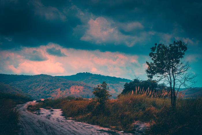 Просто тайский пейзаж Пейзаж, Lightroom, Таиланд