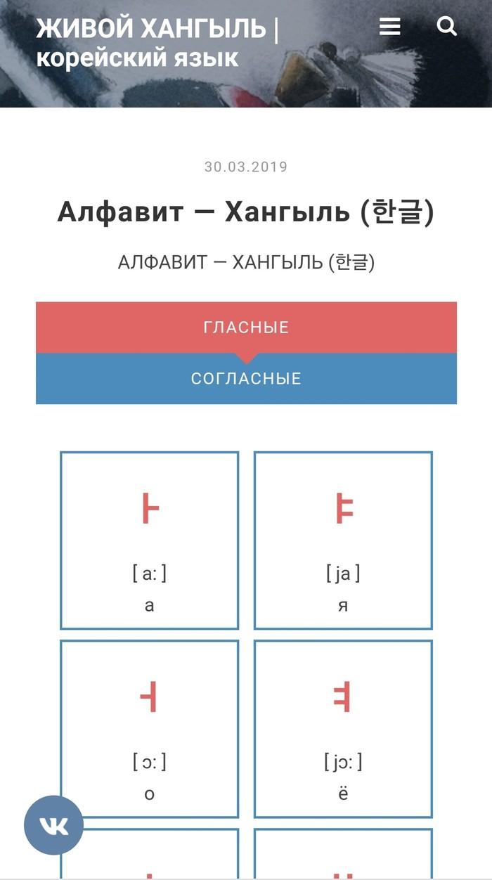 Аудио-визуальный корейский алфавит Корейский язык, Корея, Хангыль, Длиннопост