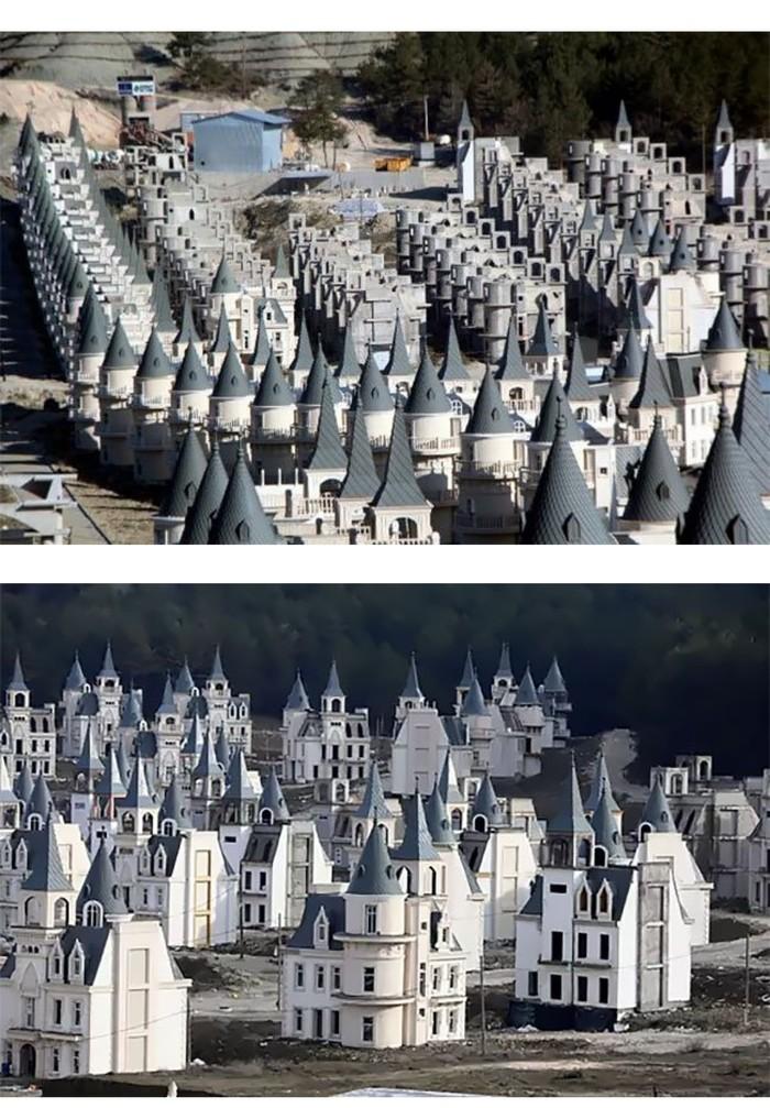 Еще один город призрак. Турция, Дом, Город-Призрак, Одинаковые, Длиннопост
