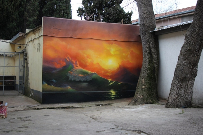 Айвазовский с баллончиком Граффити, Искусство, Крым