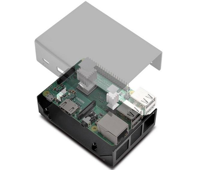Металлический корпус для Raspberry Pi Silverstone, Raspberry pi, Raspberry Pi 3, Длиннопост, Корпус ПК