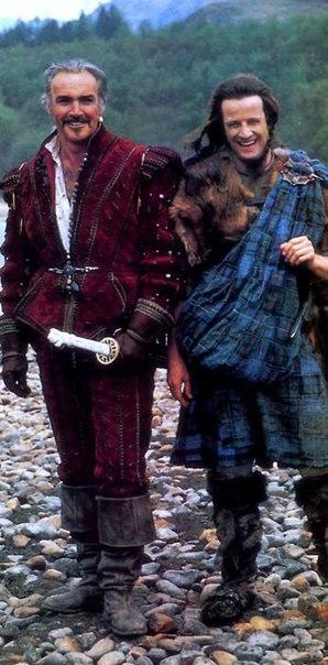 Фотографии со съёмок и интересные факты к фильму«Горец» 1986 год. Кристофер Ламберт, Шон Коннери, Горец, Фото со съемок, Знаменитости, VHS, 80-е, Длиннопост