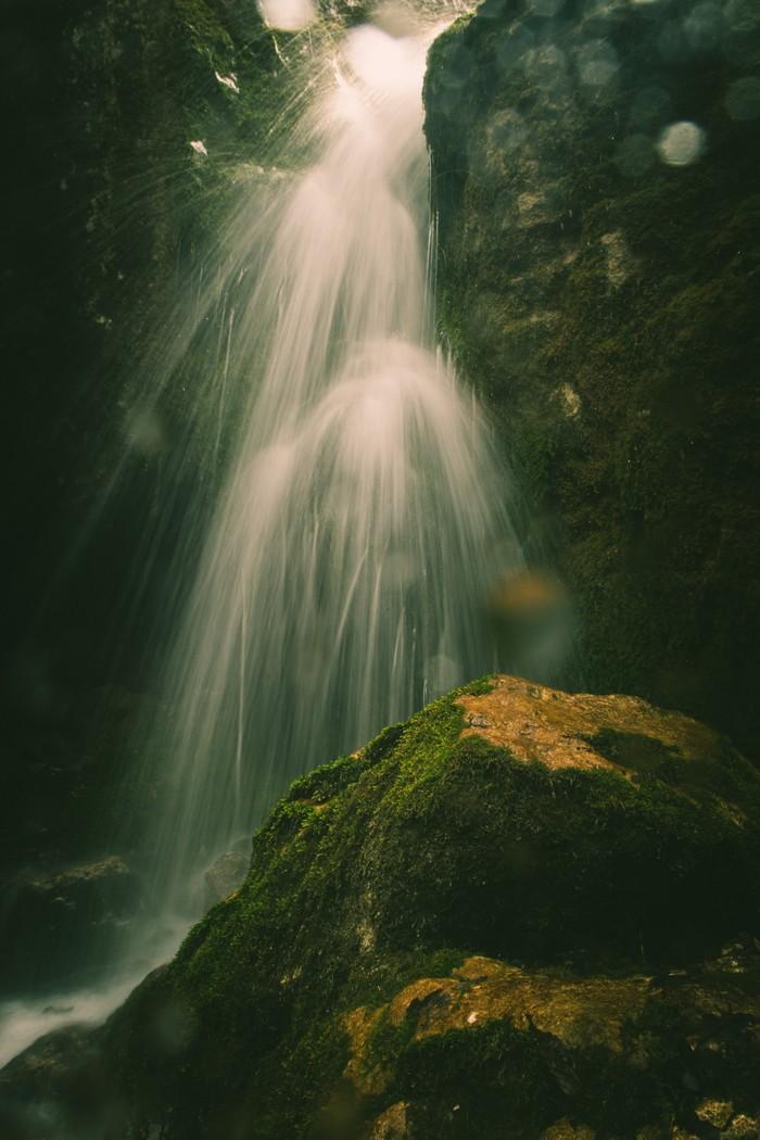 По дороге в Верхнюю Балкарию. Горы, Водопад, Кабардино-Балкария, Река, Ущелье, Черекское ущелье, Длиннопост