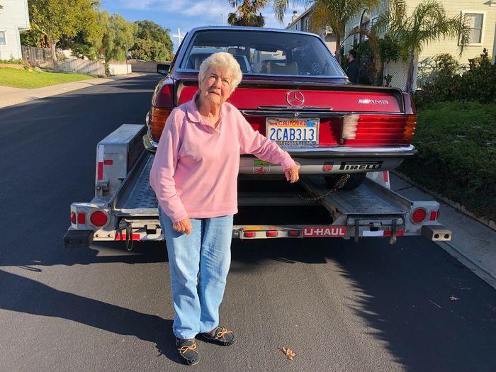 Купе Mercedes 450 SLC AMG - 42 года в руках одной женщины! Фантастика! Мерседес, Купе, История, США, Владелец, Длиннопост