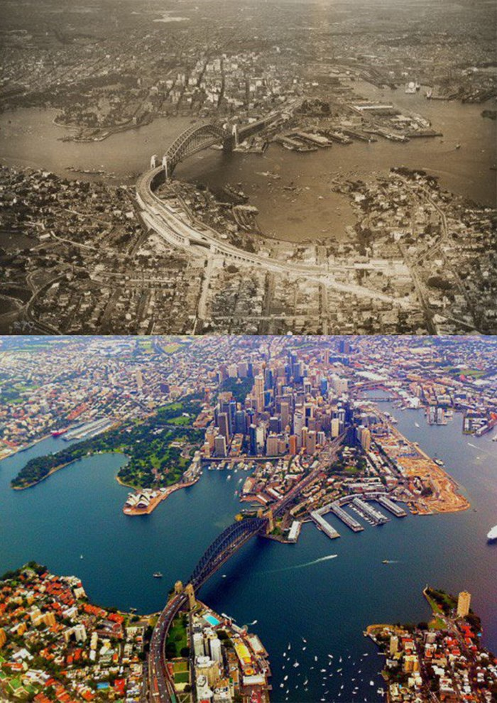 14 городов, снятых с одного ракурса в прошлом и настоящем. Посмотрите, как быстро меняется мир Город, Жизнь, Изменения, Дубай, Москва, Сингапур, Берлин, Длиннопост