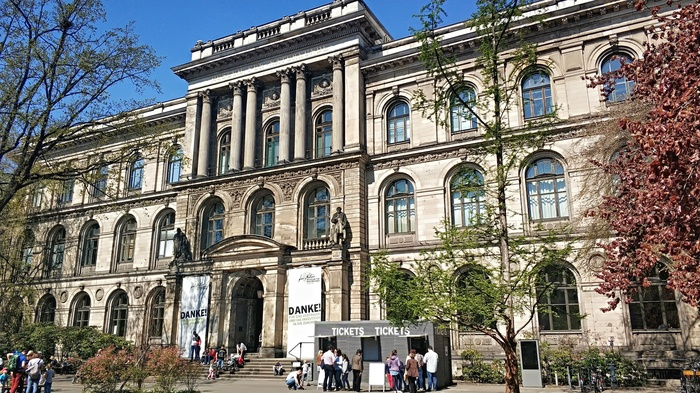 Музей естествознания в Берлине Музей, Динозавры, Скелет, Длиннопост