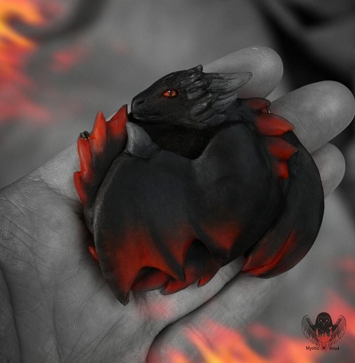 Drogon Дракон, Игра престолов, Полимерная глина, Ручная работа, Рукоделие без процесса, Длиннопост
