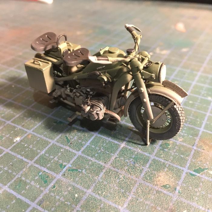Маленькое хобби. Zundapp KS750 для виньетки Sunkpainting, Масштабная модель, Мотоциклы, Хобби, Zundapp
