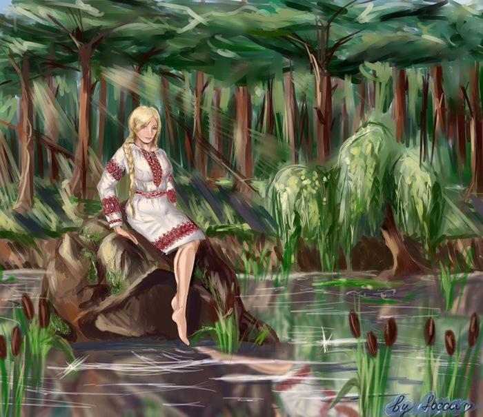 Сестрица Славянушка. Бесконечное Лето, Визуальная новелла, Славя, Арт