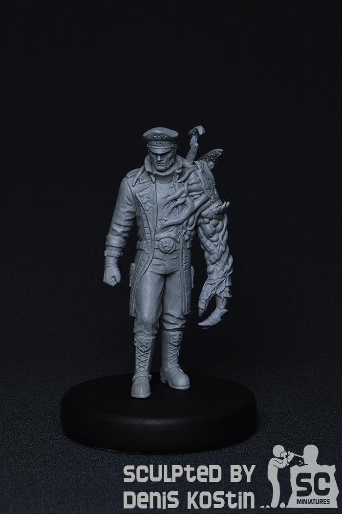 Миниатюра Адмирала Стукова (ч.1) Длиннопост, Творчество, Полимерная глина, Хобби, Миниатюра, Starcraft, Blizzard