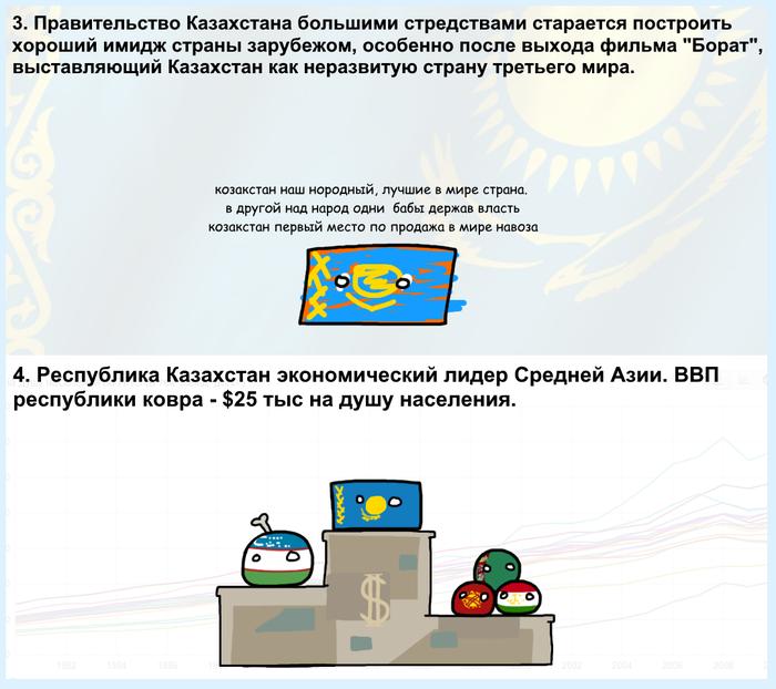 8 интересных, наверное, заметок о Казахстане Countryballs, Страны, Факты, Казахстан, Длиннопост, Мат