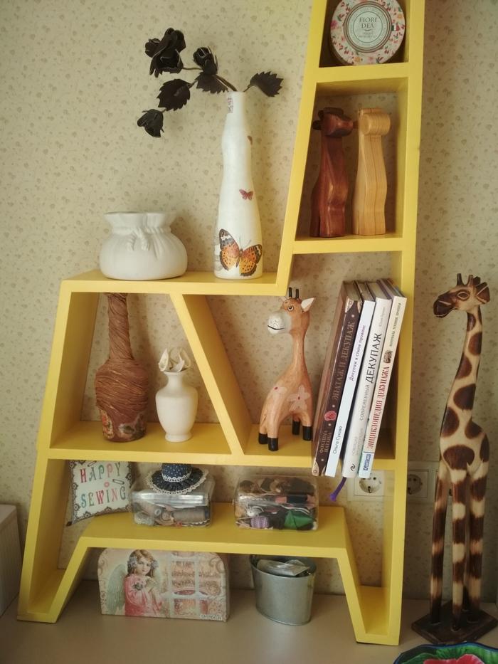 Полка-жираф Изделия из дерева, Фанера, Рукоделие, Подарок, Длиннопост
