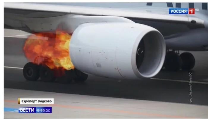 """За горящий двигатель """"Боинга"""", обвинить хотят пассажиров. Utair, Самолет, Пожар, Экипаж, Гифка, Длиннопост, Негатив, Видео"""