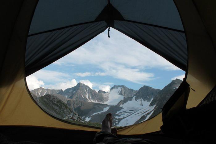 Пик Топографов Саяны, Пик топографов, Палатка, Поход, Природа, Горы