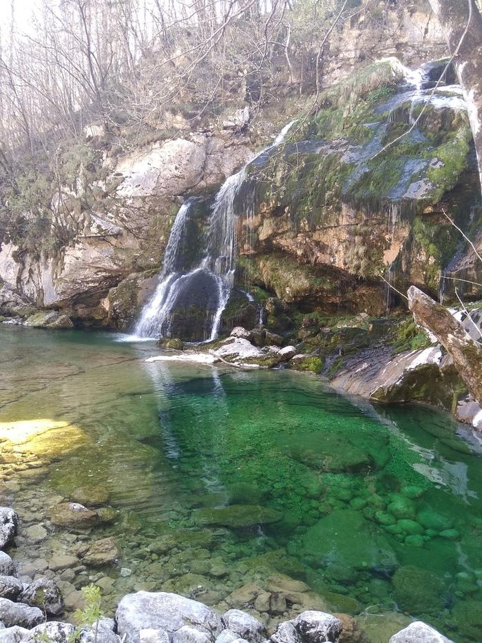 Водопад Ривьера в Словении. Водопад, Словения, Красота природы, Длиннопост, Природа