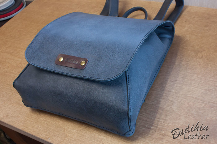 Рюкзак из кожи Кожа натуральная, Ручная работа, Рюкзак, Своими руками, Длиннопост