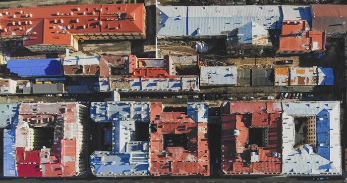 Геометрия Питерских крыш Квадрокоптер, Дрон, Аэросъемка, DJI, Санкт-Петербург, Фотография, Путешествие по России