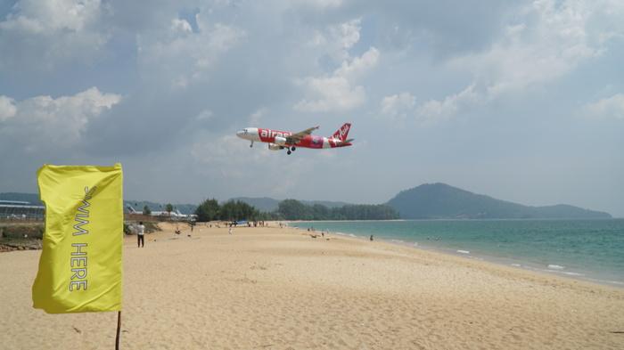 Пляж с самолётами. Пхукет. Таиланд. Таиланд, Пхукет, Самолет, Пляж, Длиннопост