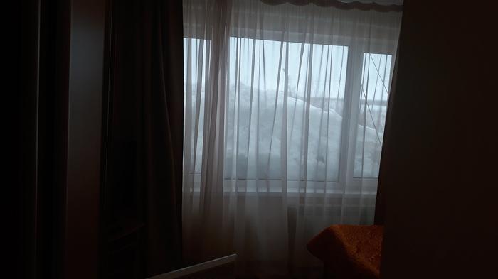 Вид из окна Новый уренгой, Командировка, Вид из окна, Лед, Хочу сибаса