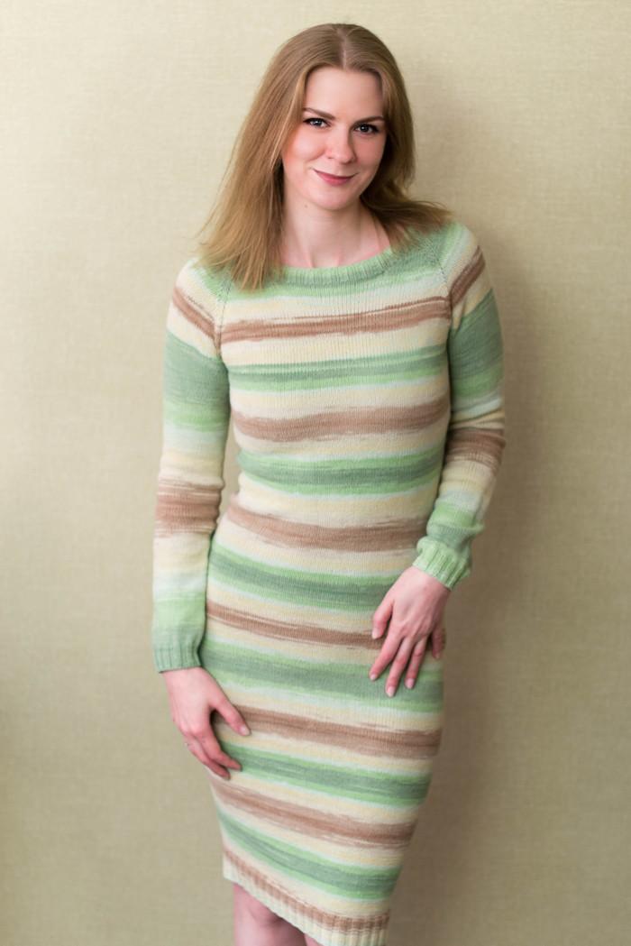 Базовое платье спицами. Вязание, Вязаноеплатье, Рукоделие, Рукоделие без процесса, Платье, Своими руками, Длиннопост