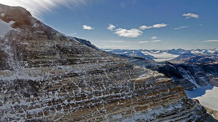 Обледеневшие горы Антарктики NASA, Планета Земля, Антарктида, Фотография