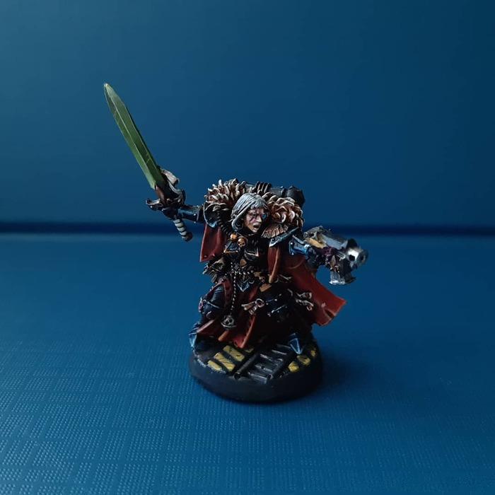 Сестры битвы Warhammer 40k, Wh miniatures, Adepta Sororitas, Canoness, Длиннопост