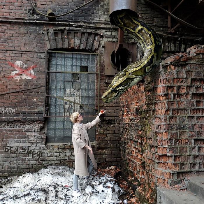 «Бестиарий Петербурга» #1 – трубники Бестиарий Петербурга, Змея, Завод, Photoshop
