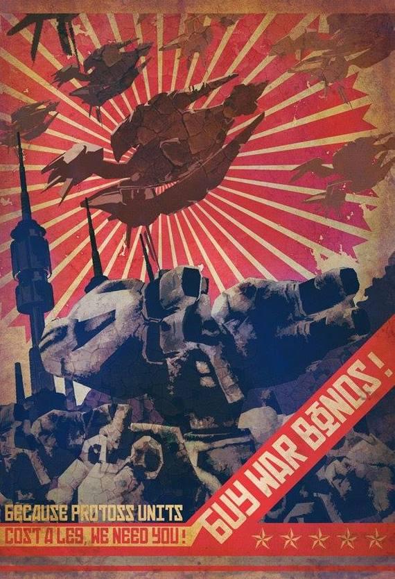 Стилизованные постеры по StarCraft 2 Starcraft, Starcraft 2, Протоссы, Зерги, Постер, Вторая мировая война, Стилизация, Длиннопост