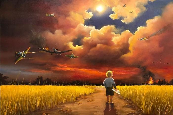 """Опалённое детство"" Война, Картина, Искусство, Современное искусство, Творчество, Память, Пост, Жукова"