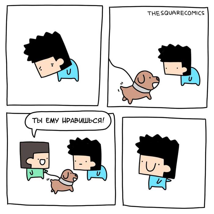 Собака Комиксы, Перевел сам, Thesquarecomics, Собака
